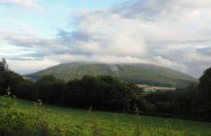 Le mont Beuvray, une montagne occupée par un oppidum gaulois et recouverte par une forêt