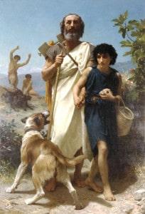 Homère et son guide, par William Bouguereau (1874).