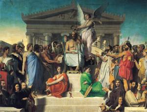 """Ingres, """"L'Apothéose d'Homère"""", 1827"""