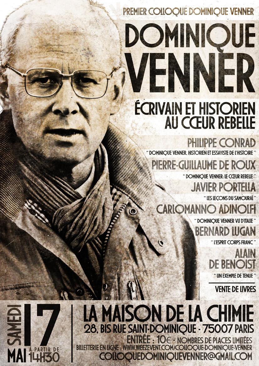 2014 : Dominique Venner, écrivain et historien au cœur rebelle