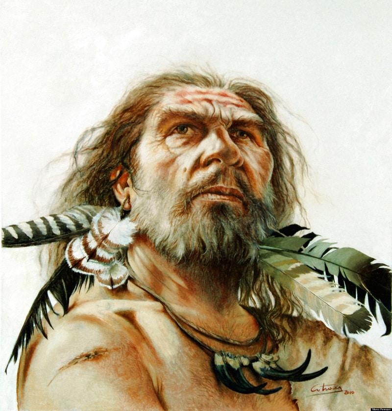 L'homme de Néandertal, vue d'artiste