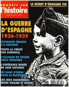 Enquête sur l'histoire n°16 – Printemps 1996 – Dossier : La guerre d'Espagne 1936-1939