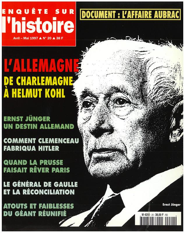 Enquête sur l'histoire n°20 – Avril-Mai 1997 - Dossier : L'Allemagne, de Charlemagne à Helmut Kohl