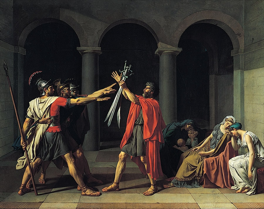 Le Serment des Horaces, de Jacques-Louis David (1785)