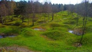 La champ de bataille de Verdun