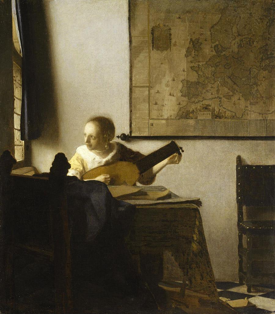 Jeune femme au luth (1662)