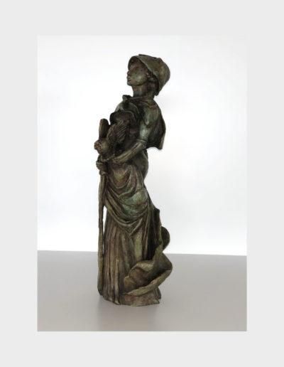 Jeanne-Athéna, sculpture en bronze, 2016