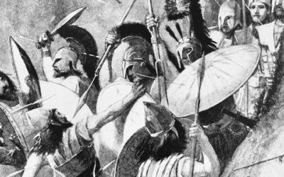 Léonidas et les spartiates à la bataille des Thermopyles (18-20 août 480 av. J.C.)