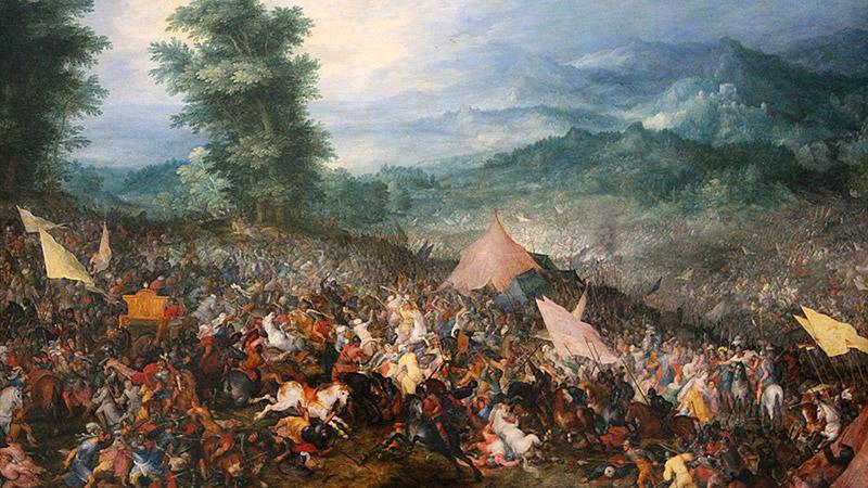 Alexandre à la bataille de Gaugamèles (1er octobre 331 av JC)
