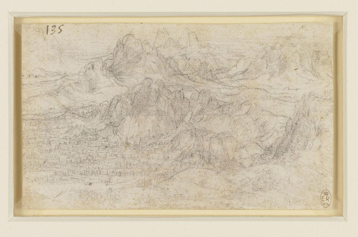 Dans les documents du Codex Atlanticus légués par le peintre (collection de Windsor), apparaissent ainsi une douzaine d'études de montagnes aussi travaillées les unes que les autres.