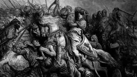 Richard Cœur de Lion à la bataille d'Arsur (7 septembre 1191)