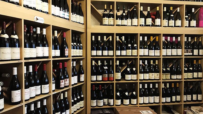 Le vin, face verticale
