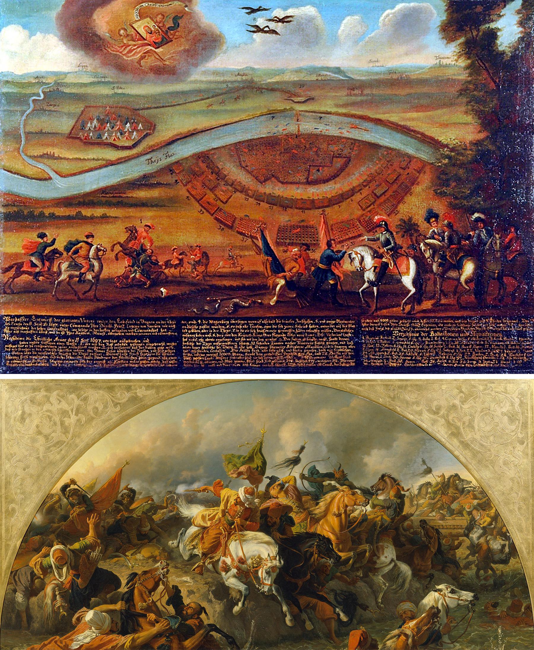 Karl von Blaas, Die Schlacht bei Zenta 1697