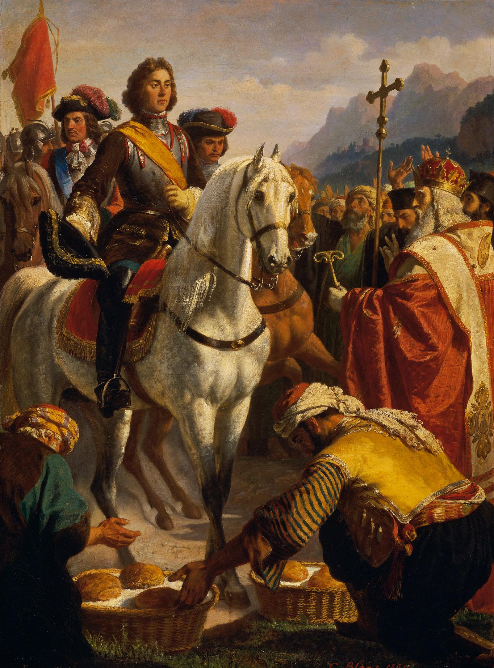 Le Prince Eugène libérant la Bosnie, tableau de Karl von Blaas, Kunsthistorisches Museum, Vienna.