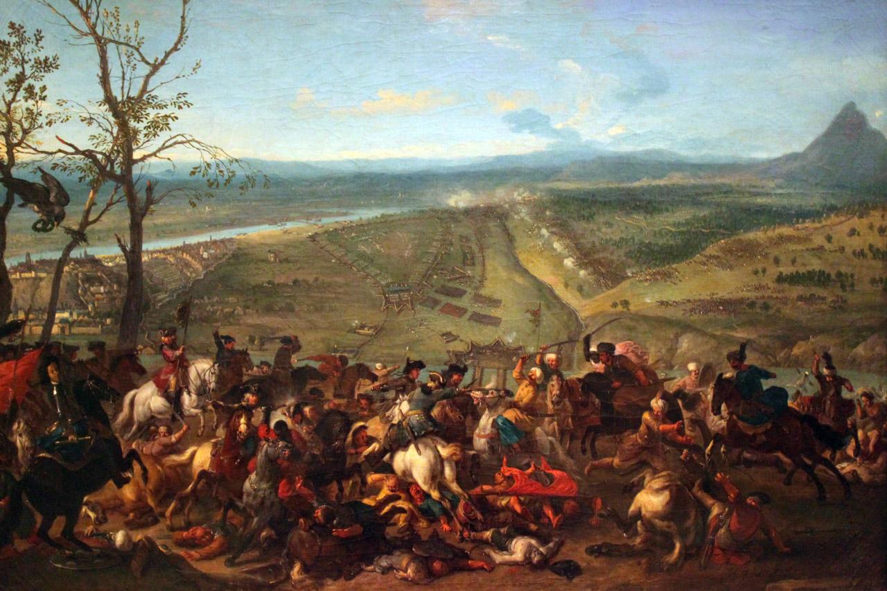 Le prince Eugène capture Belgrade le 16 août 1717. Peinture de Jan van Huchtenburgh exposée au Deutsches Historisches Museum Berlin.
