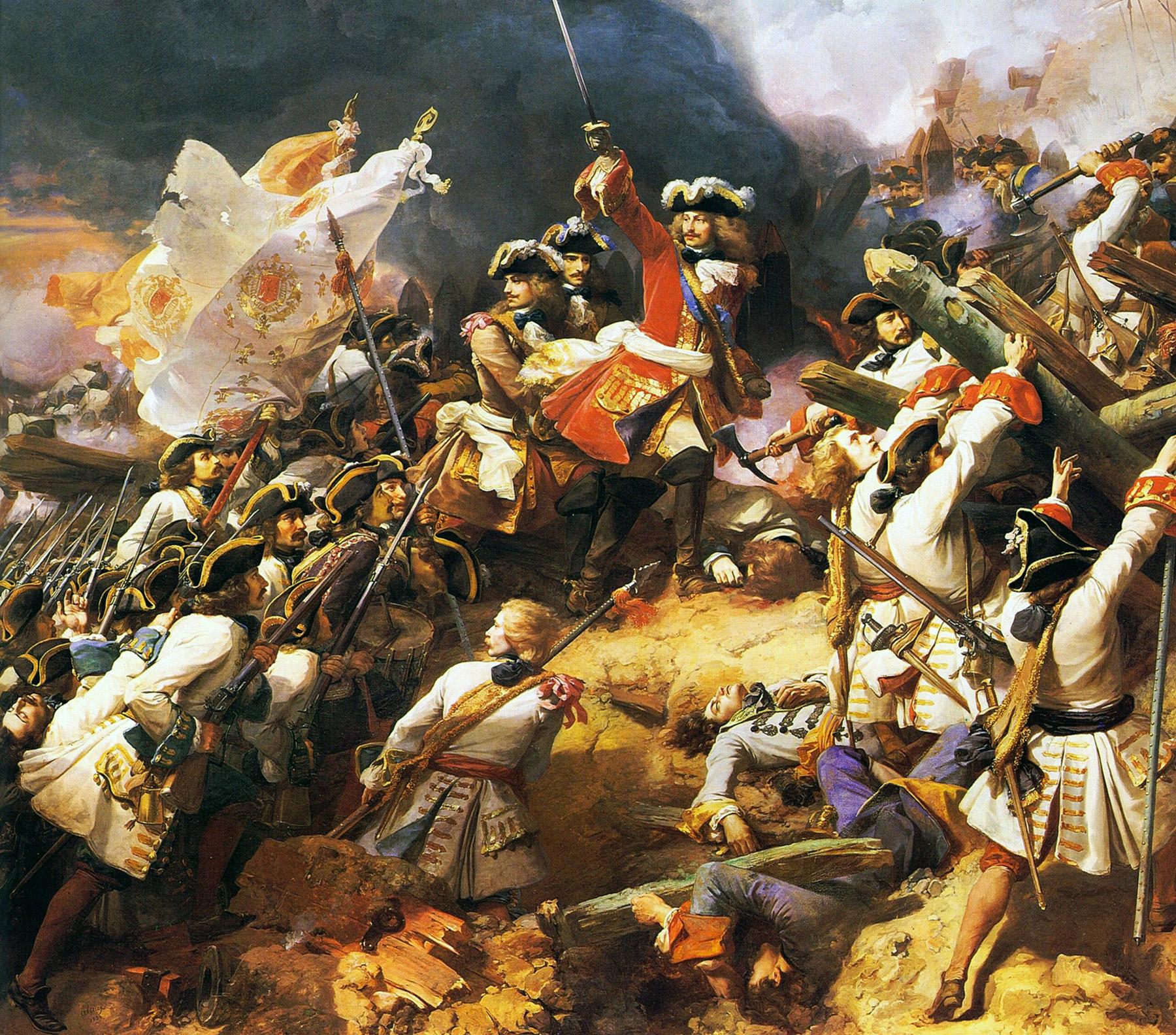 Bataille de Denain, huile sur toile de Jean Alaux (1839). Coll. Château de Versailles
